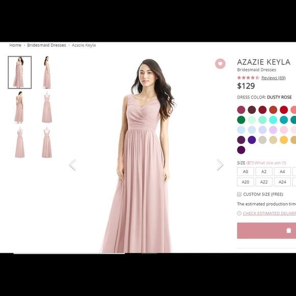 fb02f963f3 Azazie Dresses   Skirts - Azazie Keyla Bridesmaid Dress in Dusty Rose
